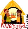 Kwanzaa celebration Vector Clipart illustration