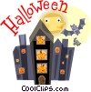 Halloween scene Vector Clip Art picture