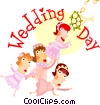Wedding day Vector Clipart picture