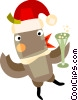 Vector Clipart illustration  of a Santa's helper