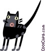 Black Cats Vector Clipart illustration