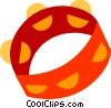 Tambourines Vector Clip Art graphic