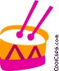 Vector Clipart picture  of a Drums