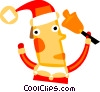 Vector Clipart illustration  of a Santa