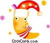Vector Clip Art graphic  of a Santa's Elves and Helpers