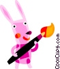 Easter Bunny Vector Clipart illustration