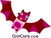 Vector Clip Art graphic  of a Bats