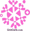 Vector Clip Art graphic  of a Snowflakes