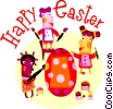 Vector Clipart graphic  of a Easter Greetings