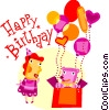Vector Clipart image  of a Happy Birthday