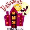 Vector Clipart graphic  of a Haunted Houses