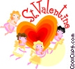 Valentine Cards Vector Clipart illustration