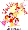 Vector Clip Art image  of a Wedding Day
