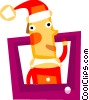 Santa Vector Clip Art graphic