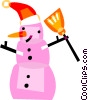 Vector Clip Art graphic  of a Snowmen