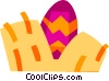 Vector Clipart illustration  of a Easter Eggs