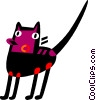 Vector Clipart image  of a Black Cats
