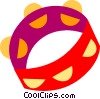 Vector Clip Art picture  of a Tambourines