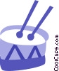 Drums Vector Clip Art picture