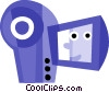 Vector Clipart picture  of a Video Cameras