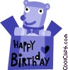 Vector Clipart image  of a Birthday Presents Gifts