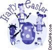 Easter Greetings Vector Clipart illustration