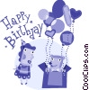 Birthday Greetings Vector Clipart picture