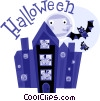 Haunted Houses Vector Clipart illustration