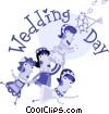 Just Married Vector Clipart picture