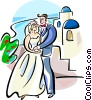 Vector Clipart illustration  of a Greek wedding