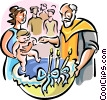 Vector Clip Art graphic  of a Orthodox baptism