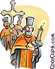 Vector Clip Art picture  of a Orthodox procession