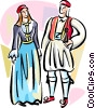 Vector Clip Art image  of a Traditional Greek costumes