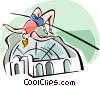 Vector Clip Art image  of a high jumper