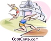 Long jumpers Vector Clip Art picture