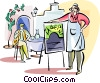 Vector Clipart illustration  of a Greek tavern