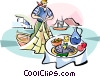 Greek fishermen Vector Clipart illustration