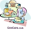 French cheese  producer Vector Clip Art graphic
