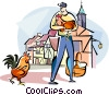 French farmer Vector Clipart picture