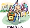 Vector Clipart illustration  of a Wine makers