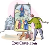 Vector Clipart graphic  of a Italian painter