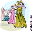 Vector Clip Art image  of a Venetian costumes at the Venice carnival