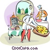Italian pizza maker Vector Clipart illustration