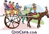 Vector Clipart graphic  of a horse carriage ride in Palermo