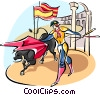 Vector Clipart graphic  of a bull fighter