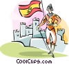 Vector Clip Art image  of a Conquistador
