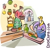 Vector Clipart illustration  of a Spanish traditional crafts