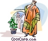 Vector Clipart graphic  of a Spanish town crier