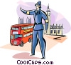 Traffic officer in London Vector Clipart illustration