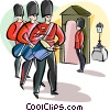Vector Clip Art image  of a English guards